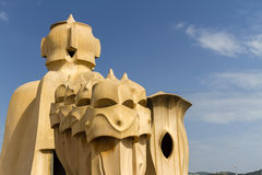 La Pedrera by Gaudi, Barcelona Stock Photography