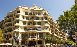 La Pedrera by Gaudi, Barcelona Spain Stock Image