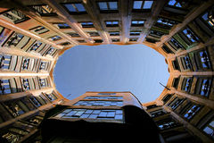 La Pedrera interior. La Pedrera landmark of Barcelona by Gaudi Royalty Free Stock Image