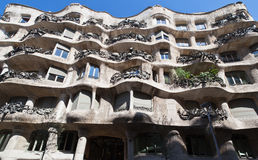 La Pedrera Modern Building in Barcelona Stock Photo