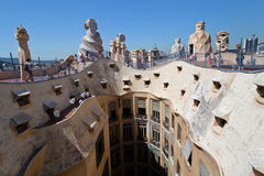 La Pedrera Modern Building in Barcelona Royalty Free Stock Photography