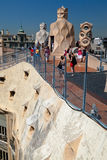 La Pedrera Modern Building in Barcelona Royalty Free Stock Photos