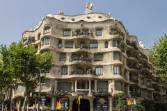 La Pedrera Modern Building in Barcelona Stock Image