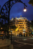 La Pedrera at night Stock Photography