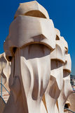 La Pedrera Phantoms in Barcelona Royalty Free Stock Images