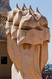 La Pedrera Phantoms in Barcelona Royalty Free Stock Photography