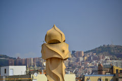 La Pedrera Phantoms in Barcelona Royalty Free Stock Images