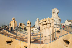 La Pedrera Phantoms in Barcelona Royalty Free Stock Image