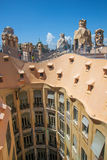 La Pedrera roof in Barcelona, Spain Royalty Free Stock Photo