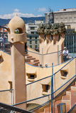 La Pedrera roof in Barcelona, Spain Stock Photo