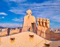 La Pedrera roof Stock Photos