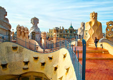La Pedrera roof Royalty Free Stock Image