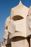 La Pedrera rooftop chimneys Royalty Free Stock Photo