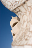 La Pedrera rooftop chimneys Royalty Free Stock Image