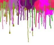 La peinture abstraite s'égoutte la surface vide décorée illustration libre de droits