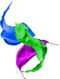 La peinture colorée éclabousse d'isolement sur le fond blanc Images libres de droits