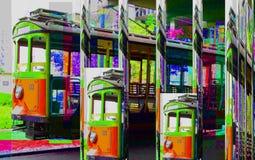 La peinture colorée d'abrégé sur art de conception de Grafik décrit le nouvel art Photos stock