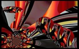 La peinture colorée d'abrégé sur art de conception de Grafik décrit le nouvel art Images stock