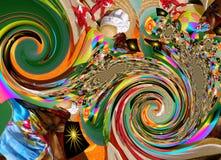 La peinture colorée d'abrégé sur art de conception de Grafik décrit le nouvel art Image libre de droits