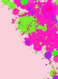 La peinture d'aquarelle éclabousse le cadre Image stock
