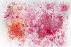 La peinture d'aquarelle éclabousse Photos stock