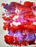 La peinture d'aquarelle de couleur de texture imprime et éclabousse illustration de vecteur