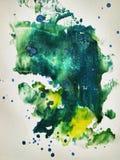 La peinture d'aquarelle de couleur de texture imprime et éclabousse illustration libre de droits