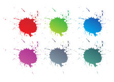 La peinture de couleur éclabousse Photographie stock libre de droits