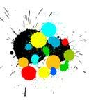 La peinture de couleur éclabousse le fond Photo libre de droits