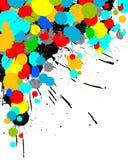 La peinture de couleur éclabousse le fond Photographie stock libre de droits