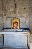 La peinture de Madonna dans l'Acropole d'Ialysos ceci est trouvée aux environs de la colline de Philerimos dans Ialysos Rhodes image stock