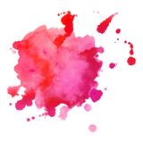 La peinture de main d'art abstrait a isolé la tache d'aquarelle sur le fond blanc Drapeau d'aquarelle Photo stock