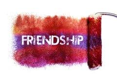 La peinture de mot d'amitié Image stock