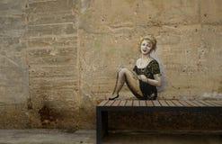 la peinture de mur de l'femmes image stock