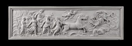 La peinture de plâtre, antiquité décorent photos stock