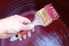 la peinture du travail est de finition Image stock