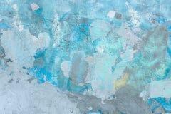 La peinture grunge bleue et grise texturisée a souillé le fond de mur photo stock