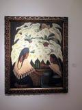 La peinture magnifique des calas ou des fous de Bassan par Diego Rivera a exhibé le Malba - à Buenos Aires Argentine illustration de vecteur
