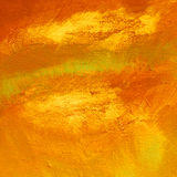 La peinture moderne abstraite pour l'effet intérieur de la rouille, huile peut dessus Images libres de droits
