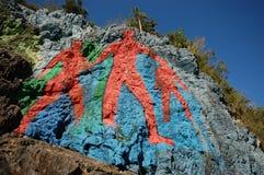 La peinture murale de la préhistoire Images stock