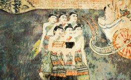 La peinture murale est plus ancienne que 120 ans Photo libre de droits