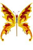 La peinture rouge et jaune a fait le papillon Image libre de droits
