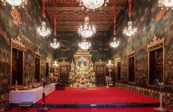 La peinture rurale sur le mur de Wat Rat Pradit Sathit Maha SI Photo stock