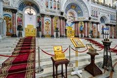La peinture sur le dôme de la cathédrale navale du saint Nichola image libre de droits