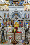La peinture sur le dôme de la cathédrale navale du saint Nichola photos libres de droits
