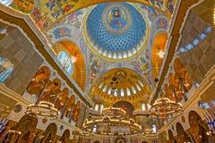 La peinture sur le dôme de la cathédrale navale du saint Nichola Images libres de droits