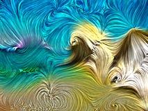 La peinture tourbillonne fond abstrait dans des couleurs de plage d'été Couleur de Digital au sujet d'art, de conception, et de c illustration stock