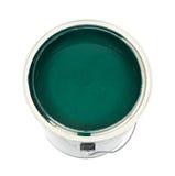 La peinture verte peut dedans Photographie stock libre de droits