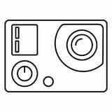 La película de la película de la electrónica de la cámara de la acción se divierte el vídeo Imágenes de archivo libres de regalías