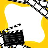 la película y la pizarra del marco tienen espacio para el texto ilustración del vector
